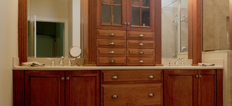 Custom Wood Double Sink Vanity