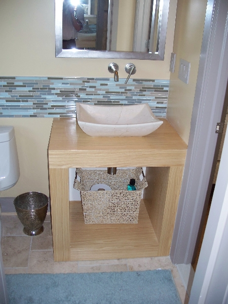 Custom Wood Sink Storage