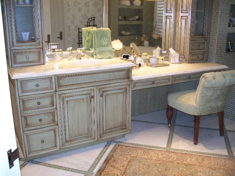 Custom Rustic Wood Bathroom Cabinets and Vanity