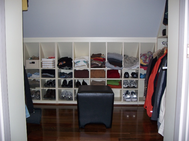 Custom Wood Closet Built Ins with Shoes