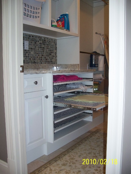 Custom Residential White Wood Closet Storage