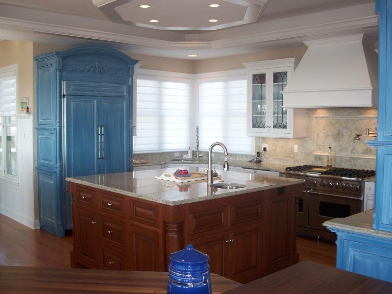 ... Custom Made Kitchen Cabinets, Island, And Storage