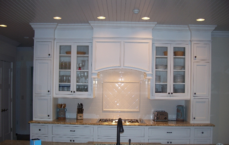 Custom White Wood Kitchen Storage