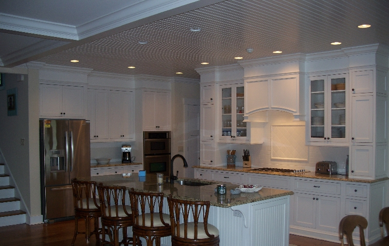 Custom White Wood Kitchen Storage & Cabinets