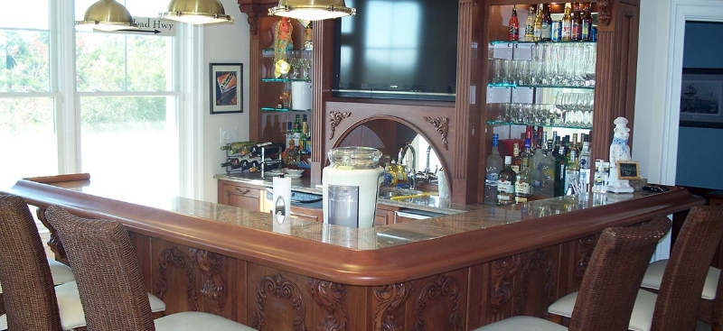 Custom Wood Bar