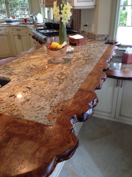 Gorgeous Custom Wood Kitchen Counter