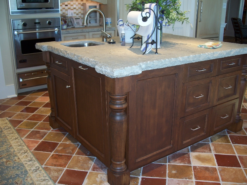 Custom Wood Cabinet Kitchen Island