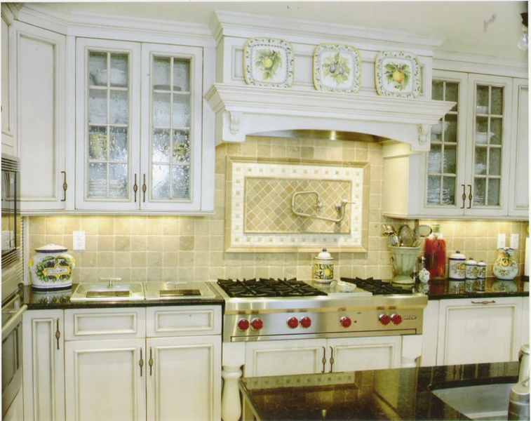 Custom French Country Style Kitchen Cabinets